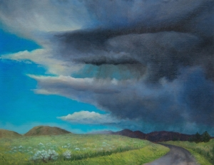 19519417-EmilyBoutilier_Storm at Badger Pass MT_Oil on linen_11x14_$500